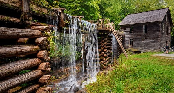 Historic homestead with working mill in Gatlinburg, Tennessee
