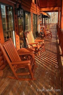 rocking chairs at Grace Manor cabin