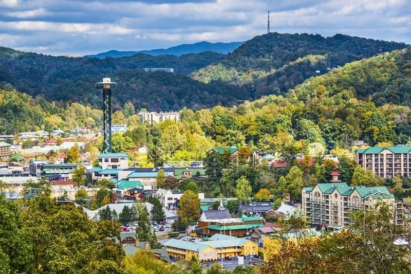Overview of Downtown Gatlinburg