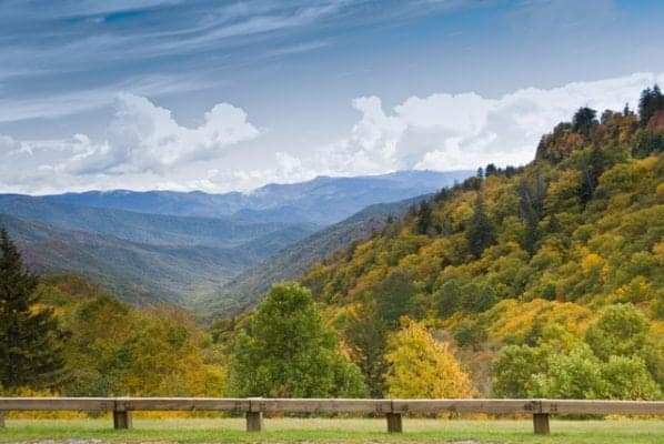 Newfound Gap in the Great Smoky Mountains National Park