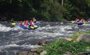 group white-water rafting in the Great Smoky Mountains National Park