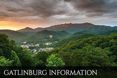Beautiful view of Gatlinburg Tennessee skyline