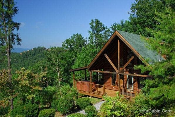 Secluded cabin in the Smoky Mountains