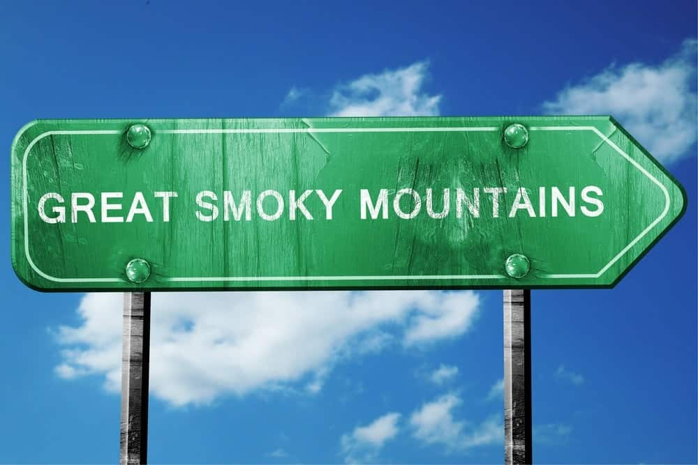Great Smoky Mountains arrow sign
