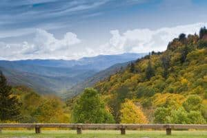 Amazing mountain views from Newfound Gap Road.