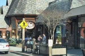 The Pancake Pantry and the entrance to The Village in downtown Gatlinburg.
