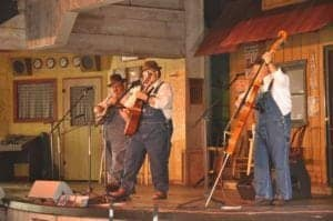 A bluegrass concert at Dollywood.