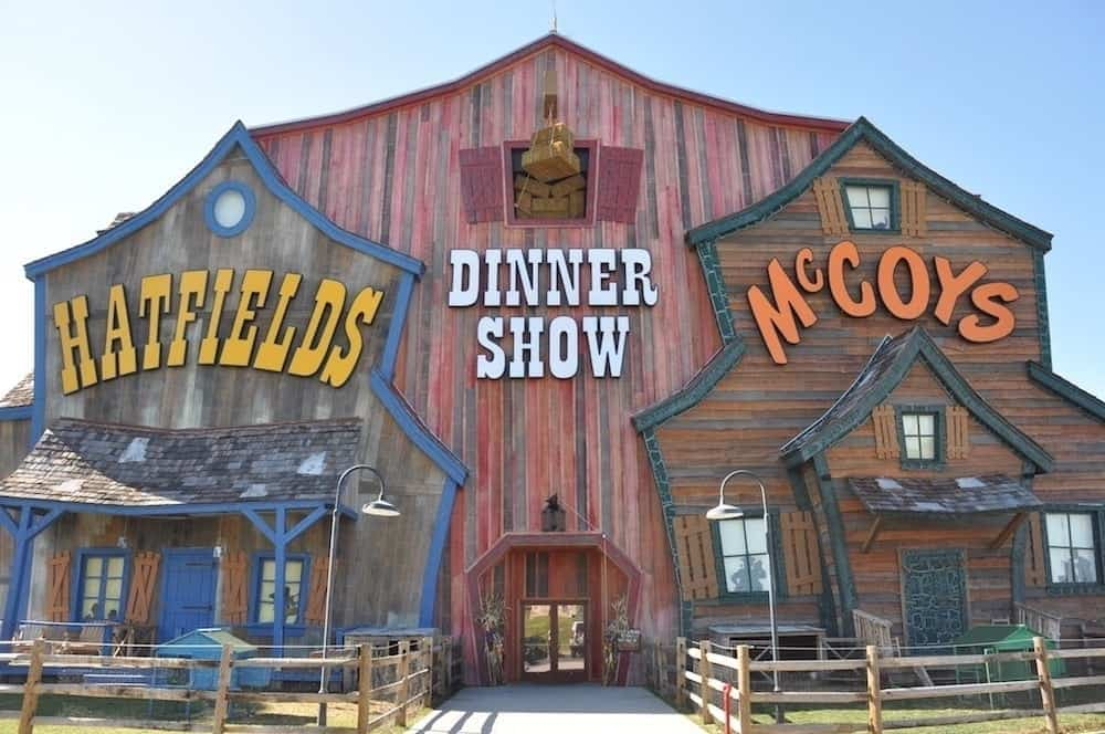 outside of Hatfield and McCoy Show in Pigeon Forge