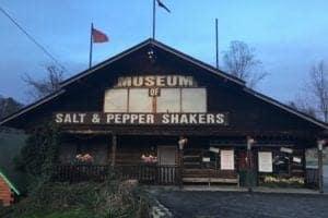 The outside of the Salt and Pepper Shaker Museum in Gatlinburg TN.
