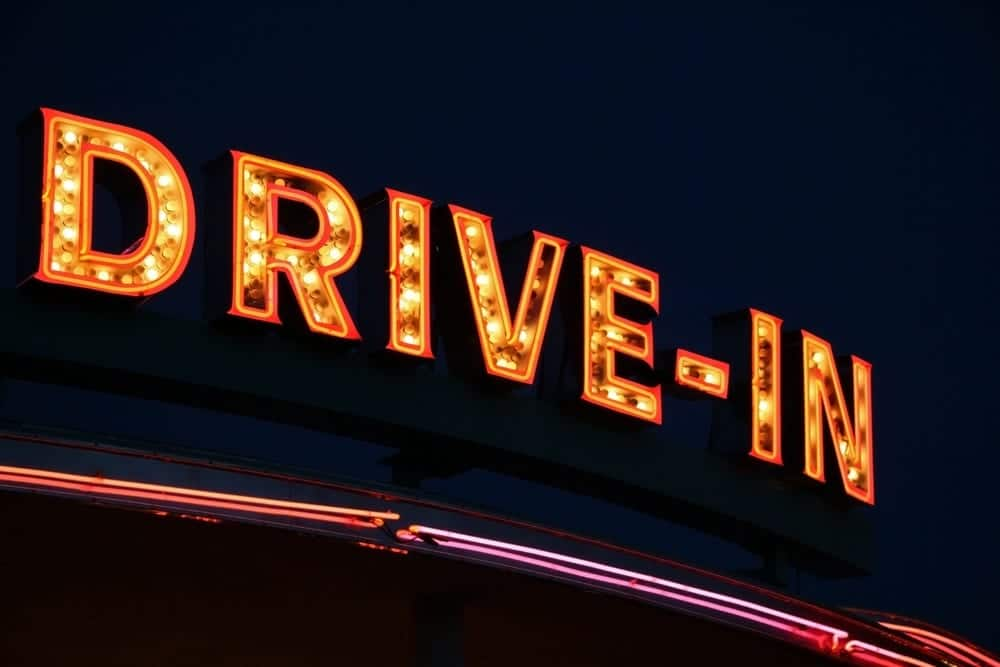 The sign for a Drive-In movie theater.
