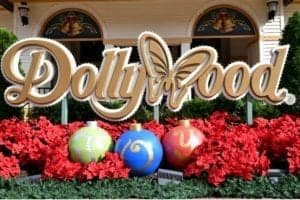 Dollywood sign at Christmas