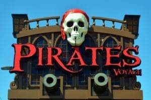 Pirates Voyage sign