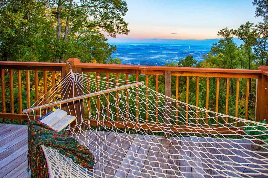 hammock on deck of eagles view cabin